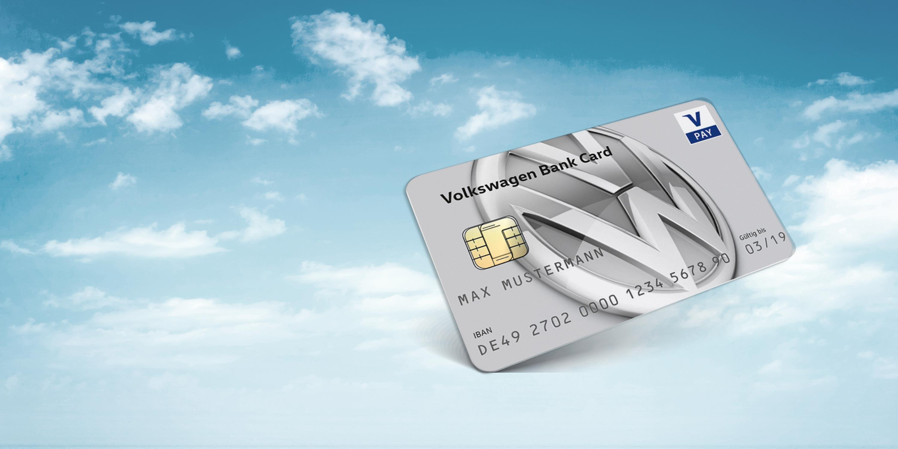 volkswagen bank card in sky